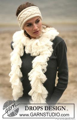 повязка на голову и шарф