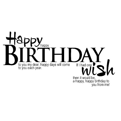 Elegant WordArt 2 Happy Birthday Wish