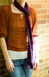 Free Knitting Pattern - Kate Skinny Scarf