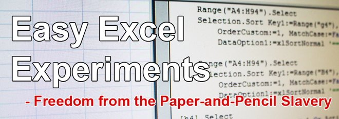Easy Excel Experiments