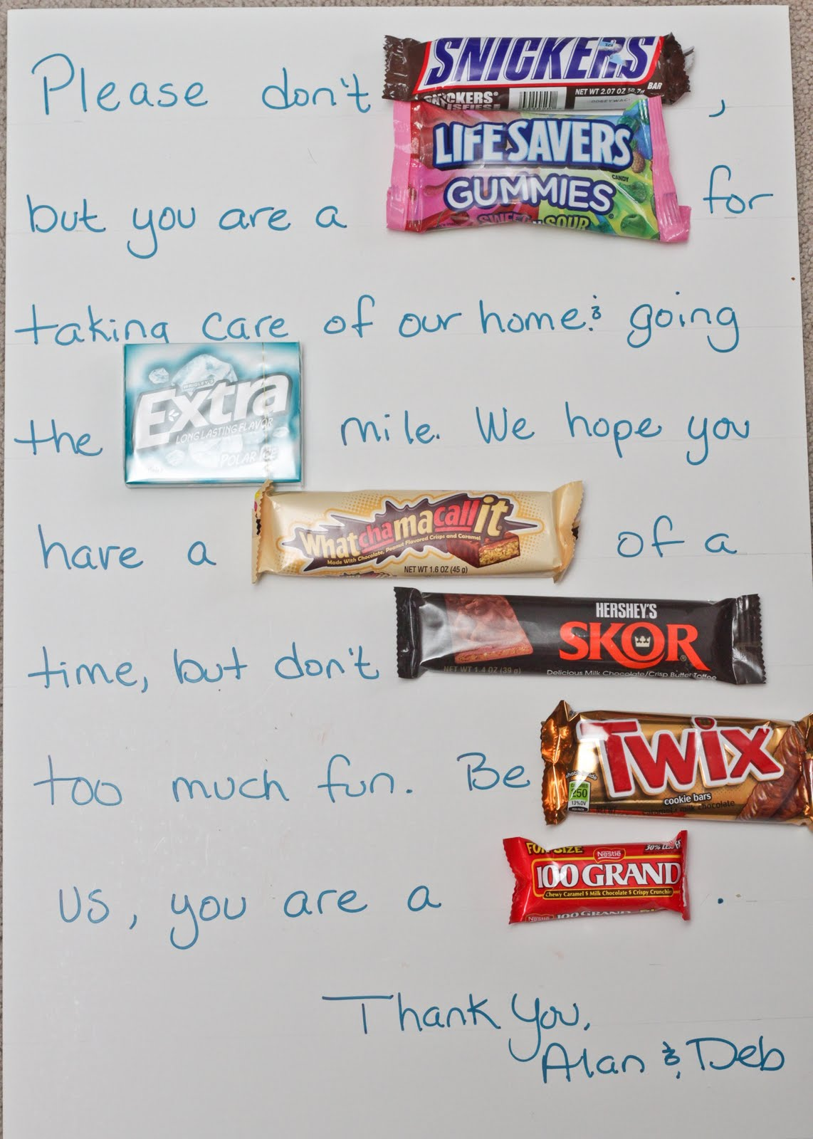 Poem click for details poem made with candy bar wrappers candy poems