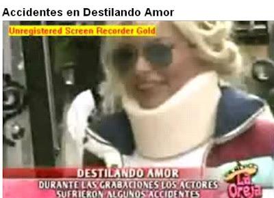 Telenovela] Los Accidentes que sufrieron los actores de Destilando ...