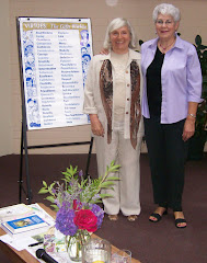 Linda Kavelin Popov , author of the Virtues, with Patricia Crossley