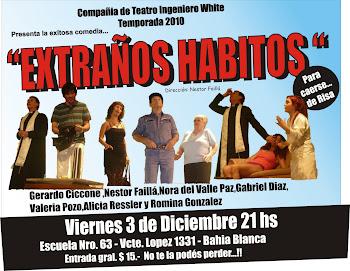 """"""" Extraños Habitos"""" Presentación  Escuela 63 . Bahia Blanca"""