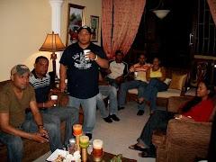 Fiesta en la residencia del hermano Junior Sosa