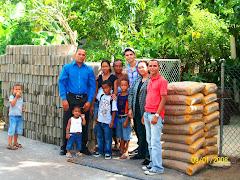 Entrega de Block, Varilla y Cemento a Patria en Manzanillo.