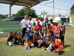 Convenio con la liga JJ Espinal en Manzanillo, Muy Pronto Feliz Dias y Gaby Mercedes.