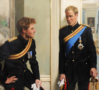 prince william and harry portrait. prince william and harry