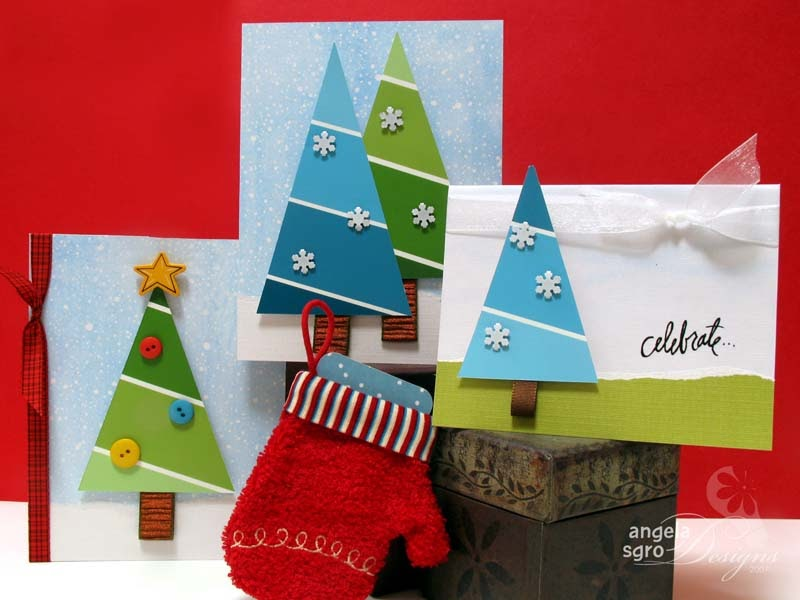 Angela sgro designs paint chip tree cards - Faire ses propres stickers muraux ...