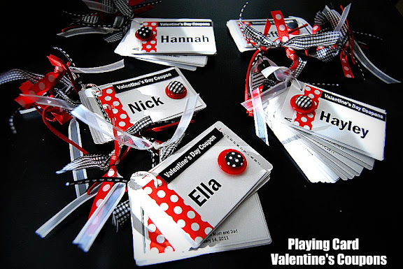 valentine project: playing card coupon booklets