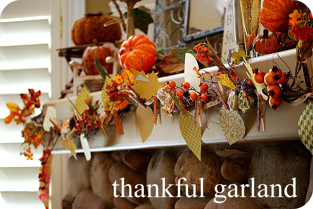 Thanksgiving project make a thankful garland for Thanksgiving home decorations