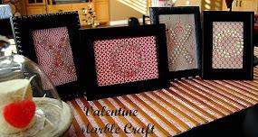 Valentine XOXO Marble Craft