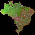 Imagens de satélite de qualquer região do Brasil (escala máxima 1:50.000)