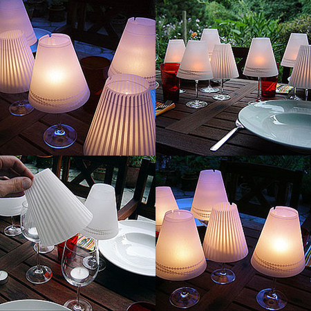 Como hacer hermosas lamparas con copas