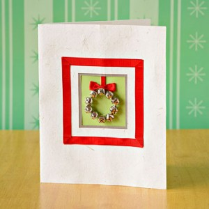 Tarjeta navide a con cascabeles portal de manualidades - Hacer una tarjeta navidena ...