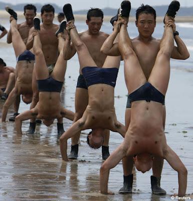 soldati sud-coreeni la antrenament
