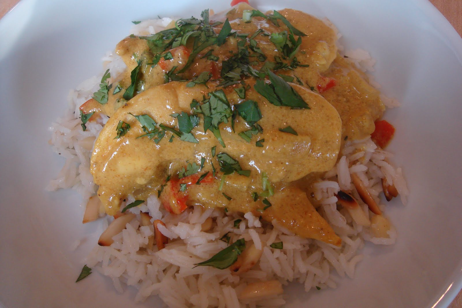 siriously delicious: Chicken and Coconut Milk Curry & Ginger Almond ...