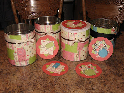 Mod Podge Cans by I Am Bloggin It