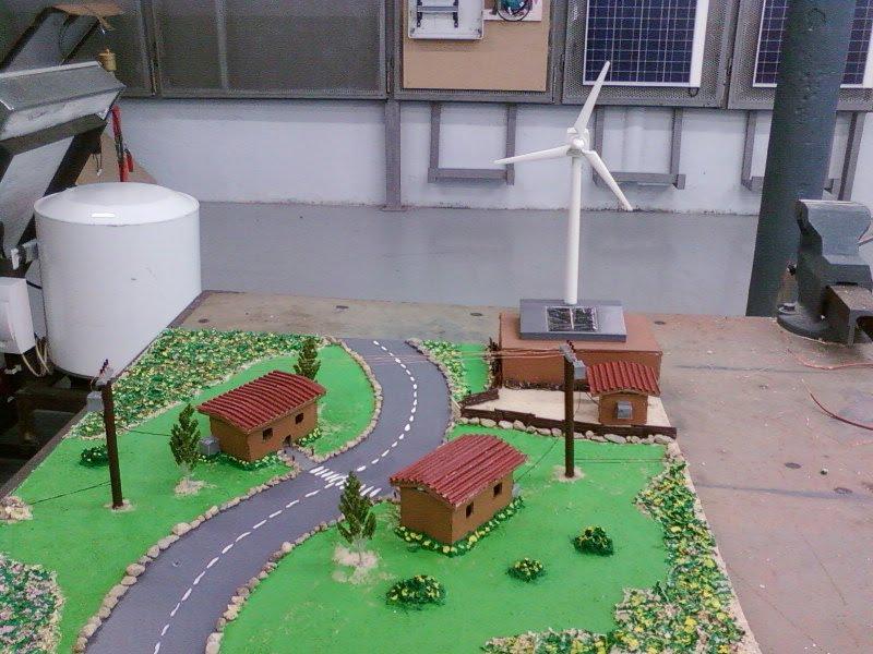 realizamos una maqueta de energia eolica simulando una pequena casa