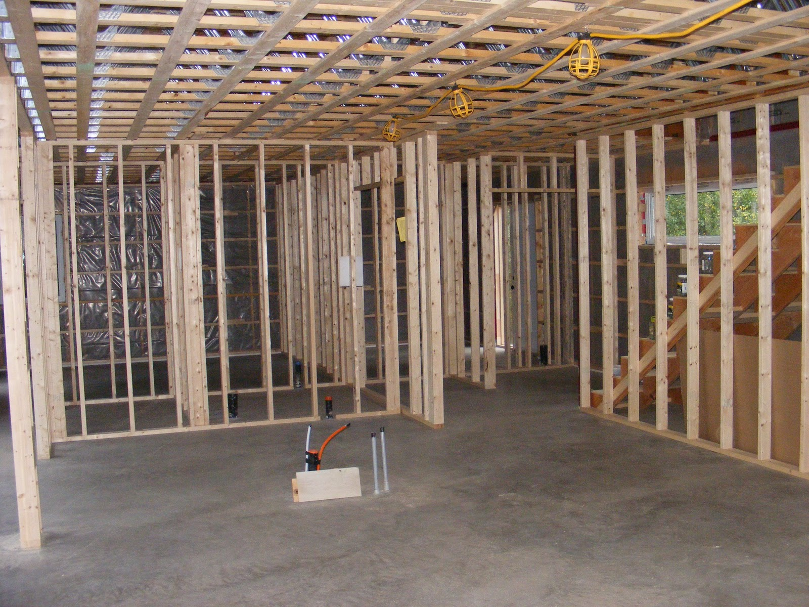 Hennessy House Blog: Interior Framing and Stairs