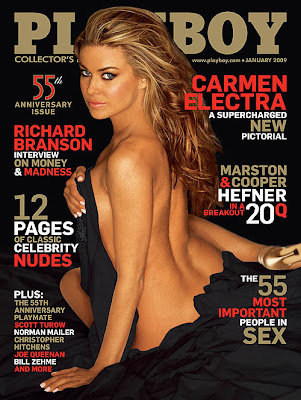 Carmen Electra Playboy Magazine Cover Scans