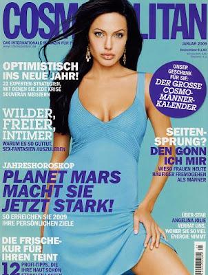 Angelina Jolie Cosmopolitan Magazine Cover 2009