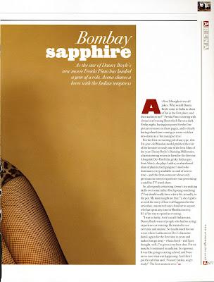 Freida Pinto Arena Magazine Scans