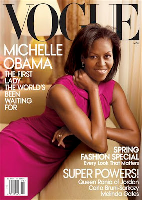 Michelle Obama on Vogue Magazine Cover Scans