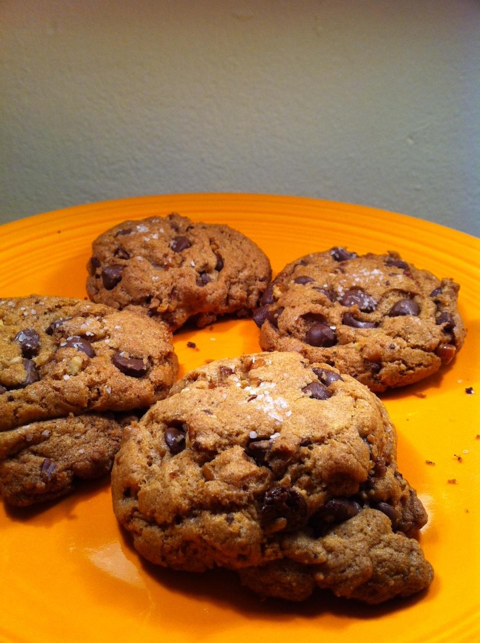 ... secret ingredient is RAGE: Olive Oil & Sea Salt Chocolate Chip Cookies