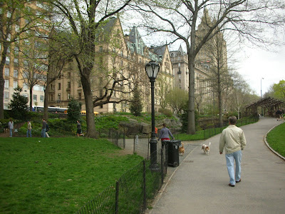 central park spring. St) from Central Park near
