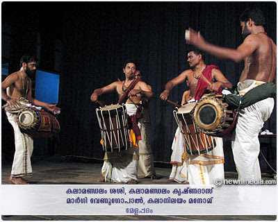 Melappadam: Kalamandalam Sasi, Kalanilayam Manoj in Maddalam and Kalamandalam Krishnadas, Margi Venugopal in Chenda; Pattu by Kottackal Madhu and Kalanilayam Rajeevan.