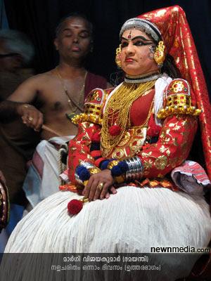 Nalacharitham Onnam Divasam Kathakali: Margi Vijayakumar as Damayanthi.