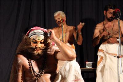 Kottackal Parameswaran Namboothiri and Kottackal Madhu during SanthanaGopalam at East-Fort, Thiruvananthapuram.