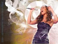 Leona lewis singing wallpaper