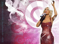 christina Aguilera wallpaper singing