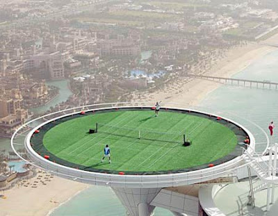 dubai hotel tennis court. The Tennis Court at the Burj