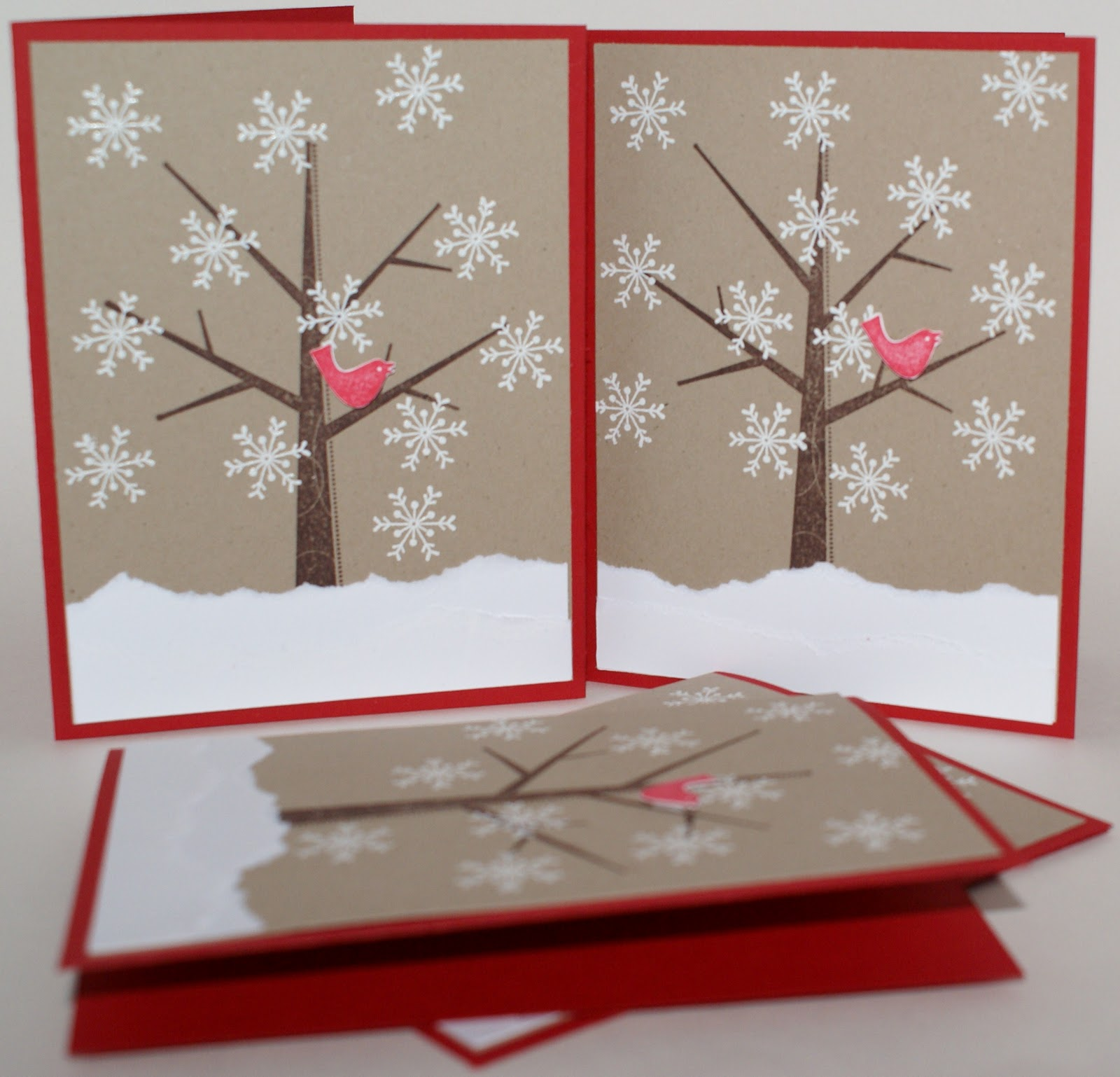 Многослойные открытки зима 81