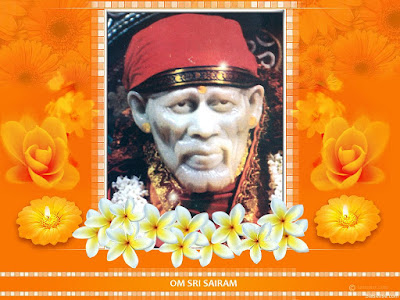 Free Shirdi Saibaba Wallpapers for Desktop Image : Orange Background