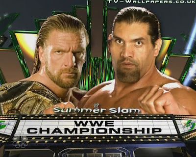 Image : WWE wrestlers Triple H and Great Khali