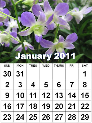 2011 calendar wallpaper for pc. Printable January 2011calendar