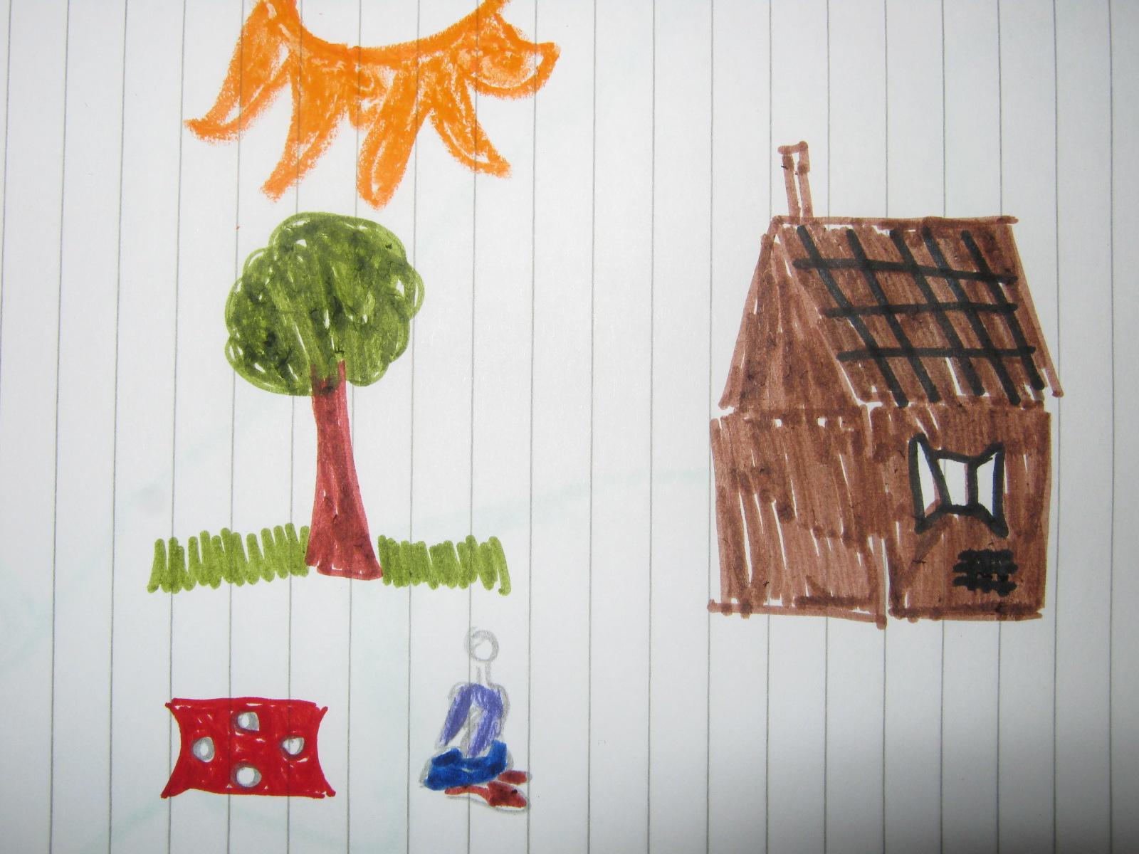 Disegno Di Un Bambino : Il disegno come terapia nei bambini: disegno di un bambino solo