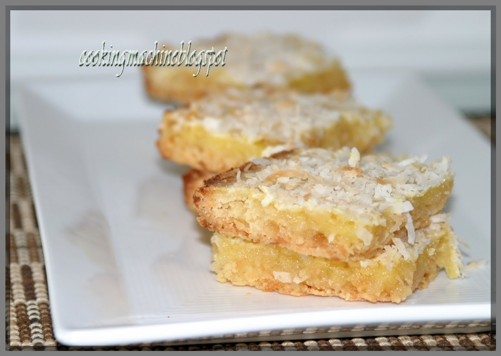 Asian Cooking and More...: Lemon-Coconut Bars