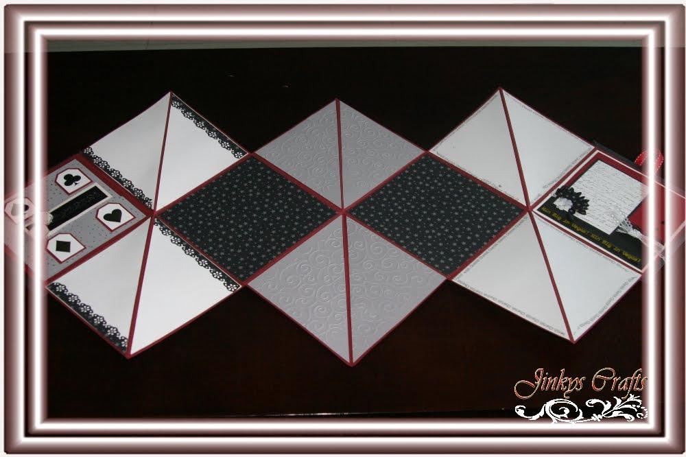 Jinkys Crafts Designs Star Accordion Scrapbook Mini Fold Out