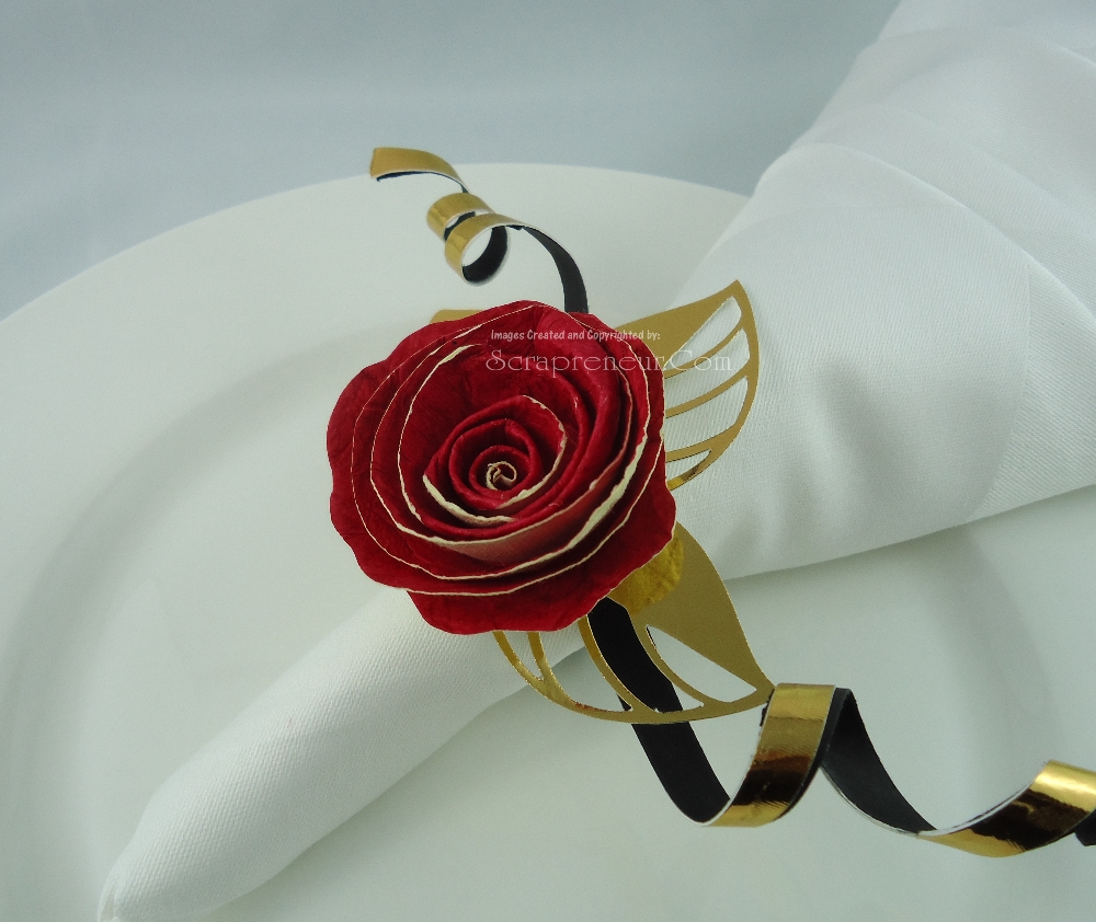 Jinkys Crafts Designs Paper Flower Napkin Rings For Valentine