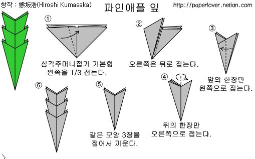 Модульное оригами ананас.схема сборки