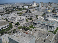 View of the SF Civic Center from studio apartment