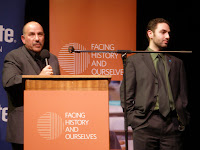 Jack Weinstein (L) from Facing History and Ourselves and Mark Hanis (R) founder of Genocide Intervention Network