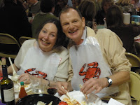 Enjoying the Ecumenical Hunger Program crab feed