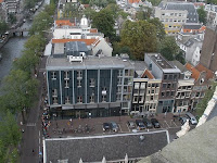 View looking down on Anne Frank House