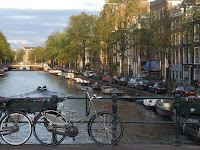 One of the canals of Amsterdam